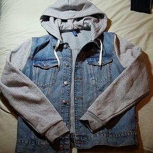 H&M hooded denim jacket (mens)